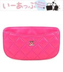 シャネル カード入れ カードケース マトラッセ ピンク 美品 f560