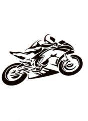バイク ライダー カッティングステッカー 4