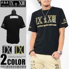 メール便送料無料【G.H.R NINE&THIRTEEN】70736Tシャツ黒金L