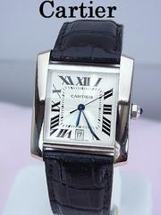 Cartier カルティエ 18KWG タンクフランセーズ LM 自動巻 W5001156★dot