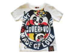 *LOVEREVOLUTION*ラブレボ*パンディ&ナーバスちゃんTシャツ*オフシロ*110�a*