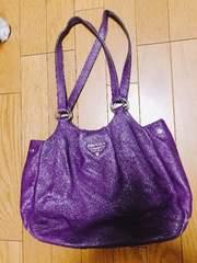 正規品PRADA 紫ハンドバッグ