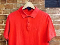 実寸M/英国製!フレッドペリー 赤 ポロシャツ UK製 モッズ 古着 ロック ルード