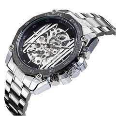 激安商品♪メンズ腕時計スケルトン 自動巻き 機械式 ブラック