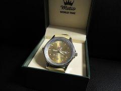 □Metro/メトロ 腕時計/ベージュ革/メンズ☆Wristwatch☆新品
