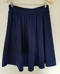 カットソー素材スカート  ネイビー