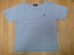 ☆使い勝手の良いKANGOLカンゴール 白水紺ボーダーTシャツ