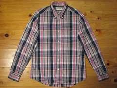 正規品!リーバイスLevi's チェック柄ボタンダウンシャツ ピンク/ネイビー XL