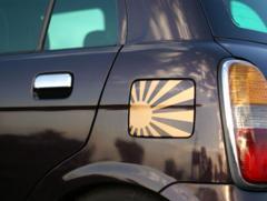 旭日旗日章旗ステッカー給油口にbbプリウスアルファードエスティマークXクラウンハイエースハリアー