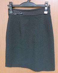 Я】ルッシェルブルースカート ウエストリボンデザイン 38サイズ