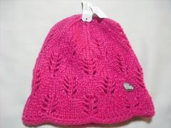 wb170 女 BILLABONG ビラボン ニット帽 ピンク