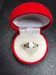 新品 K18 オパール 指輪 13号