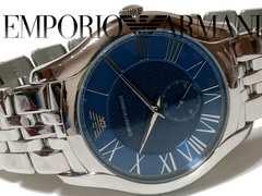 美品 1スタ★エンポリオ・アルマーニ【スモセコ搭載】大型 腕時計