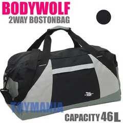 新品 BODYWOLF 46リットル 大容量 ボストンバッグ メンズ 旅行バッグBK