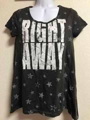 ★COLZA スター柄×ロゴ  フレアTシャツ  M★