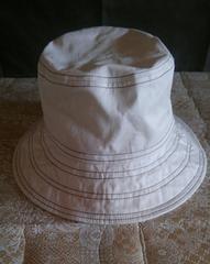綿100%帽子 ステッチがアクセント 春夏用