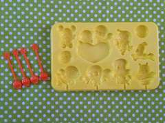アンパンマン チョコレート型 モールド ペロペロチョコ 製菓道具