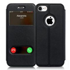 ★7色★ 手帳型 ケース 黒 iPhone7 他色機種有