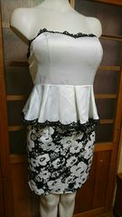 Style ペプラム ベア高級ミニドレス