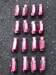 P1.25アルミホイールナット軽量ジュラルミン赤アルマイトワゴンR等