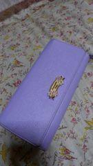 サマンサベガ 被せタイプ長財布《ラベンダー色》USED品