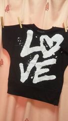 新品◆ドルマンTシャツ150◆前後ロゴプリント半袖
