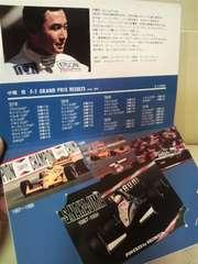 未使用 貴重当時モノF1 中嶋悟 ティレル・ホンダ 台紙付きテレカ 1991