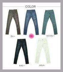 *新品* スキニーデニム 【S/ブルー】