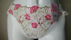 エメフィール☆T☆Mサイズ☆新品タグ付き☆オフホワイト×ピンク花柄刺繍☆定価900