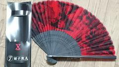XJAPAN 一番くじ 扇子賞A 赤 ヴィジュアル スカル パンク