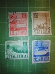 ルーマニア通常切手4種類♪
