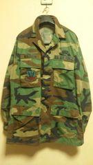 ミリタリー¶USAF[米軍]★ウッドランド迷彩BDUジャケット M〜L相当/送\255〜