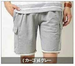 新品♪即決♪ハーフパンツ  カーゴ 裏毛スウェット ショートパンツ メンズ