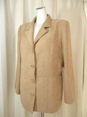 【HERC】【大きいサイズ】ステッチ入りベージュのジャケット