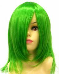 即納可能☆耐熱☆即決 フルウィッグ ショート 緑/グリーン L3
