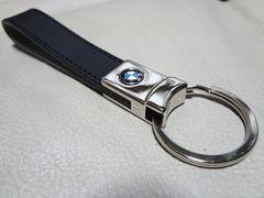 希少!BMW 純正 正規品 本革製キーホルダー ブラック