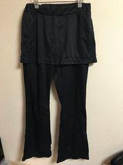 ★黒×スカート付ジャージパンツ  L★