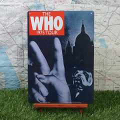 新品【ブリキ看板】The Who/ザ・フー 1975 Tour