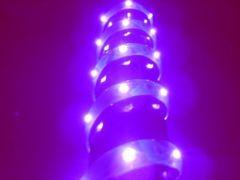 超発光/薄型/防水 LEDテープ 90�p パープル/紫