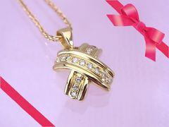 18金 ダイヤモンド クロスモチーフ ダイヤモンド ネックレス N-970 仕上げ済★dot