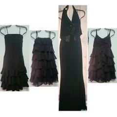 新品美品黒ドレスワンピ4セットまとめ売りゴスロリ二次会キャバクラブハロウィン