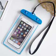 夜光 スマホ 防水ケース ブルー 防水ポーチ スマホケース  携帯
