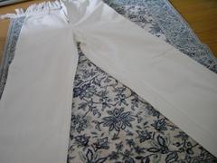 ホワイトロングパンツ  大きめ58