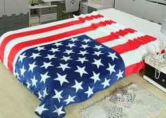 国旗 デザイン 柄 毛布 ブランケット