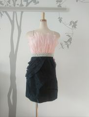 M ミニドレスドレス Jewels ピンク オーガンジー 新品 J17301