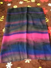 グラデーションカラースカーフ!美品