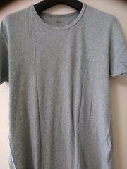 ユニクロ L グレーTシャツ 綿100 送料200
