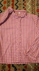 *140�p・ピンクチェックのシャツ*