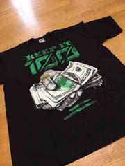 LA直輸入keep100 デザインプリントTシャツ黒ブラックサイズ4XL