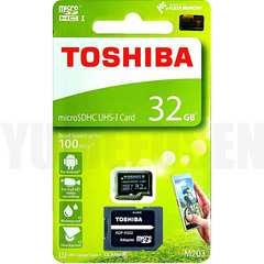 送料無料 即決でSDアダプタ 100MB/s 東芝 microSDHC 32GB Class10